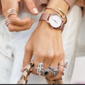Eddie Borgo The Soho Rose Gold Metal Strap Watch